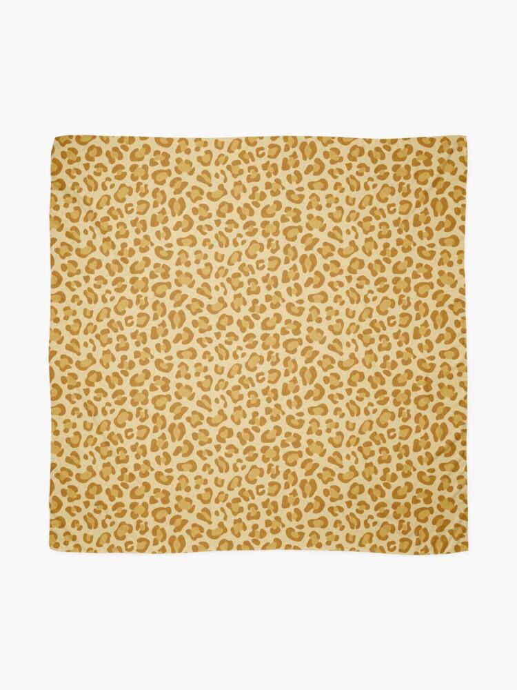 Vista alternativa de Pañuelo Leopardo - Mostaza Picante