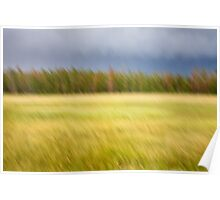 Meadow Motion Blur Poster
