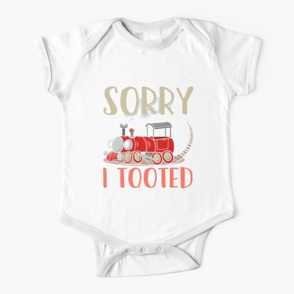 Sorry I Tooted Ferroequinologist Railfan  Short Sleeve Baby One-Piece