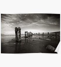 High tide at Sandsend Poster