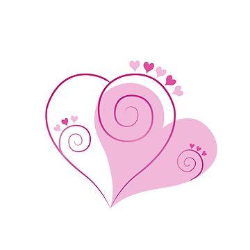 Herz pink von THELOUDSiLENCE