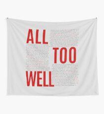 All Too Well (alle Liedtexte) Wandbehang