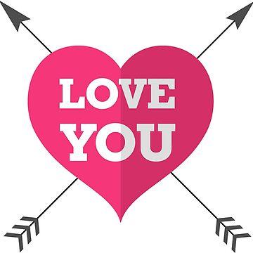 Herz love you heart von THELOUDSiLENCE