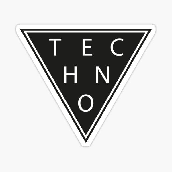 Techno Minimal Triangle Sticker