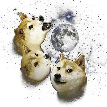 3 Doge Moon by obamashirts