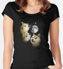 3 Doge Moon Women's Fitted Scoop T-Shirt