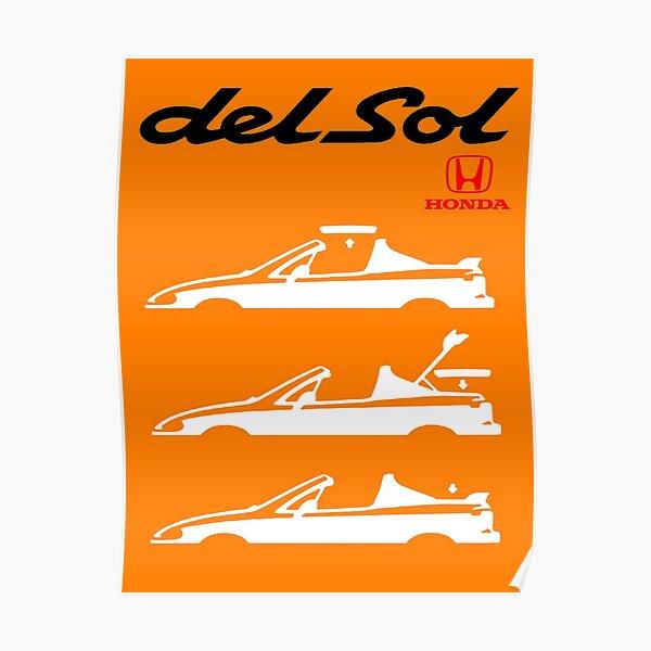 HONDA DEL SOL - CIVIC, CR-X Poster