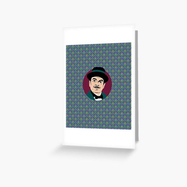 Hercule Poirot murder mystery book gifts. Greeting Card