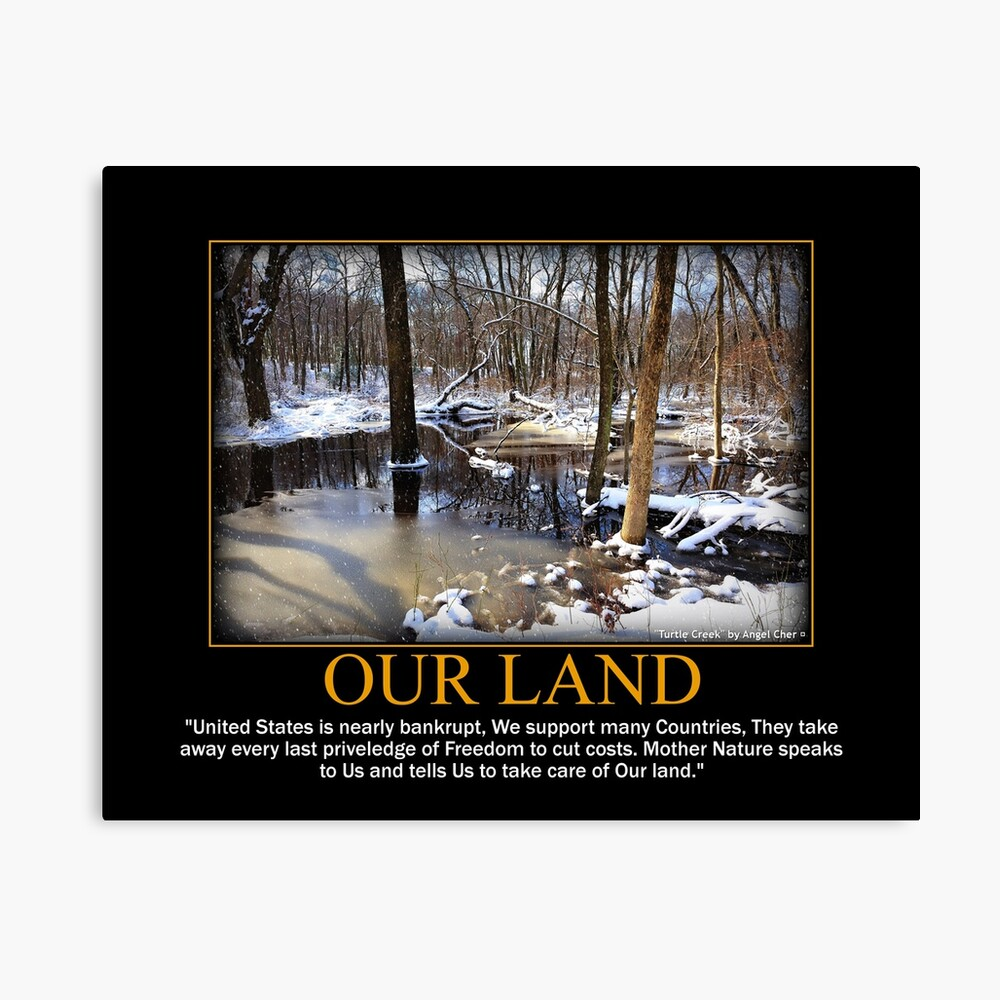 Creek In The Snow Canvas Print