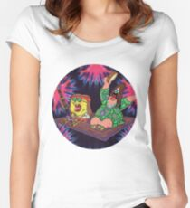 Psychedelic Sponge Women's Fitted Scoop T-Shirt