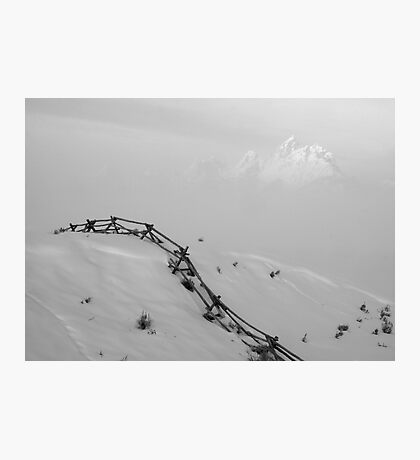 Grand Disappearing In The Fog, B&W Photographic Print
