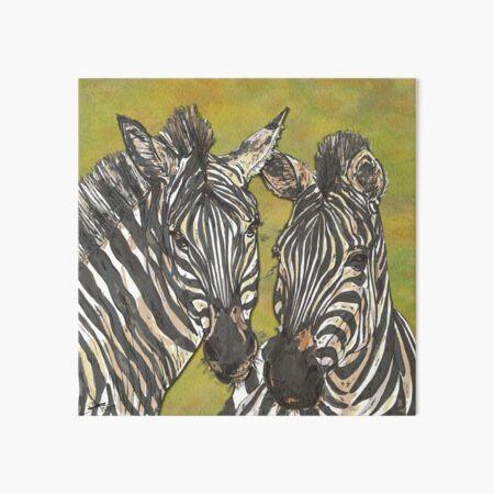 Zebras Art Board Print