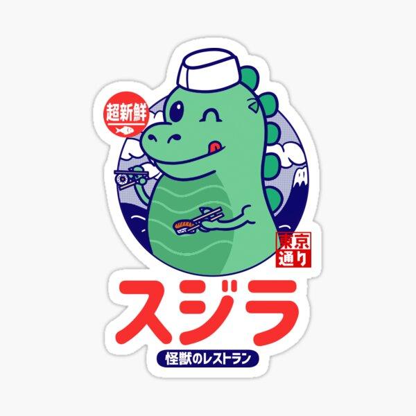 Godzilla Sushi Sticker