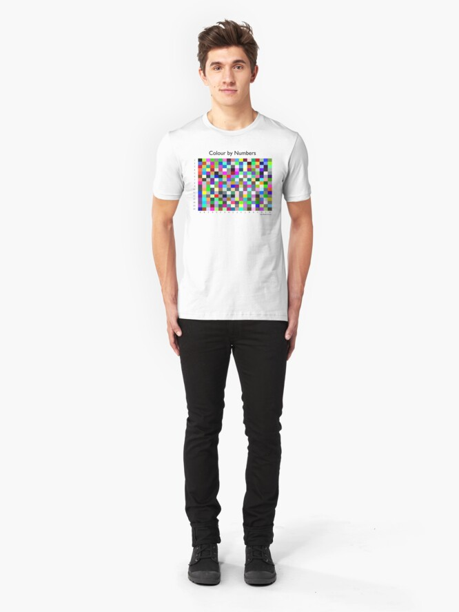 Alternate view of Colour by Numbers Slim Fit T-Shirt