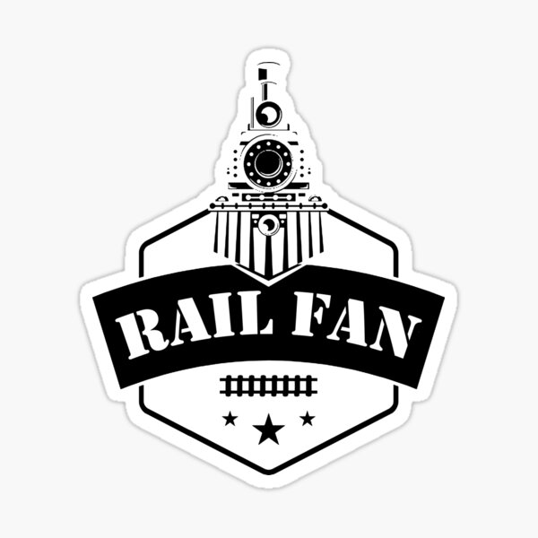 Retro Style Railfan Locomotive Steam Engine Fans Sticker