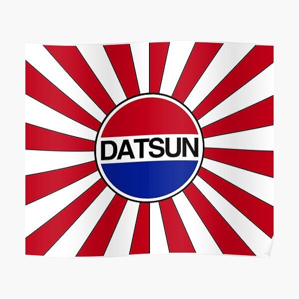 Datsun Logo and Rising Sun Poster