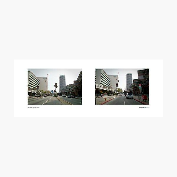 Wilshire Boulevard + Curson Avenue, Miracle Mile, Los Angeles, California, USA...narrowed. Photographic Print