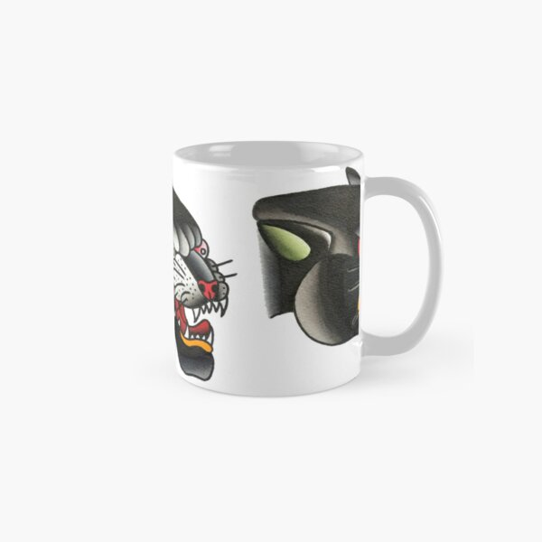 Traditional Panther Head Tattoo Design Classic Mug
