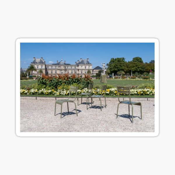 Chairs in Luxembourg Gardens - Paris Sticker