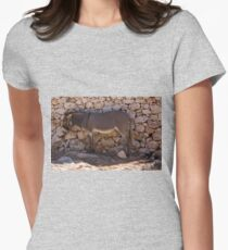 Donkey in the Shade Women's Fitted T-Shirt