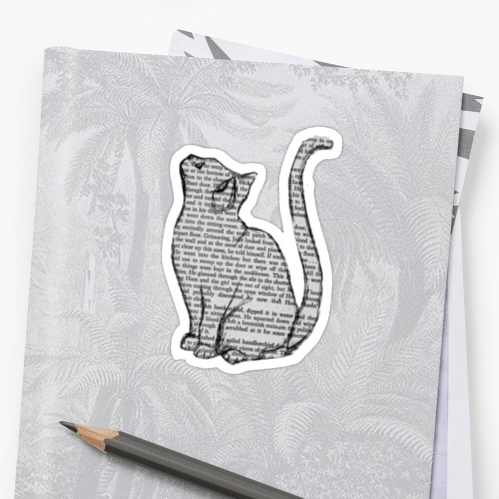 Newspaper Writing Cat by decentart