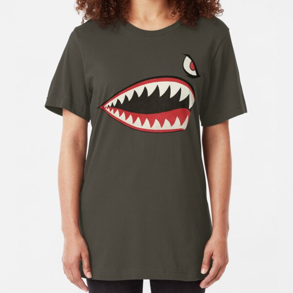 Flying Tigers Nose Art Slim Fit T-Shirt