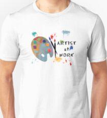 Camiseta unisex Artist At Work