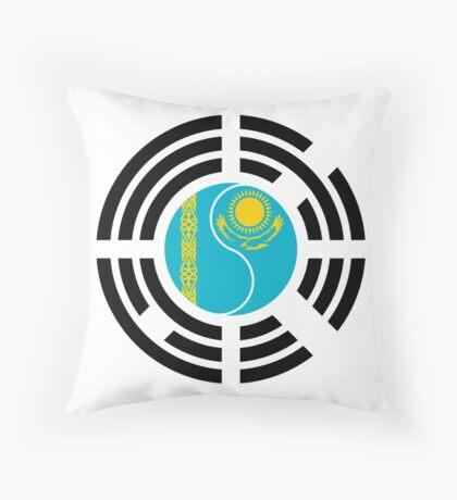 Kazakhstani Korean Multinational Patriot Flag Series Throw Pillow