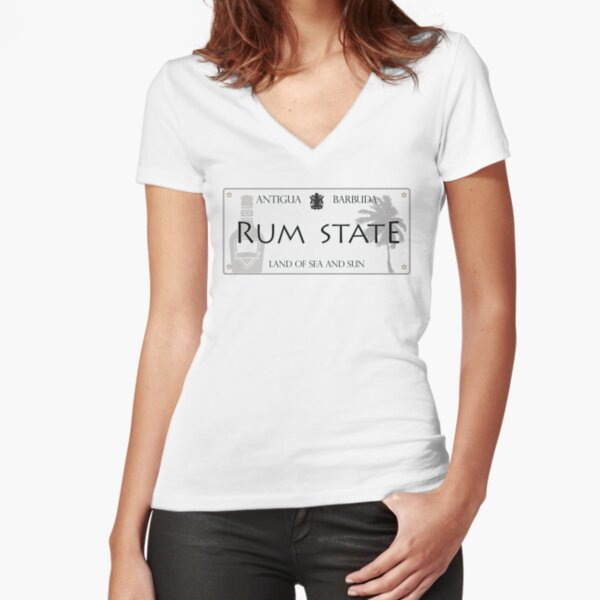RUM STATE | ANTIGUA BRAND Fitted V-Neck T-Shirt