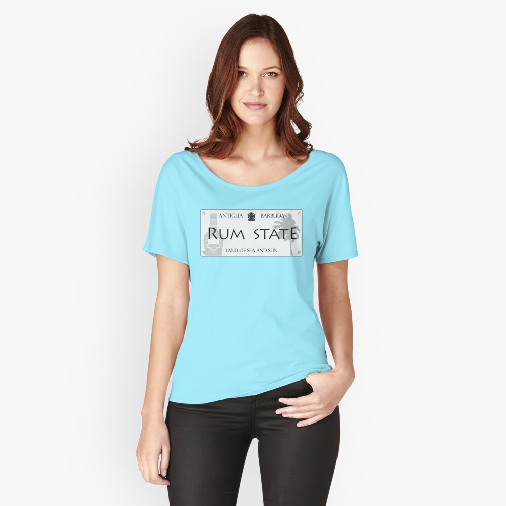 RUM STATE   ANTIGUA BRAND Relaxed Fit T-Shirt