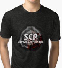 Camiseta de tejido mixto Logotipo de SCP Containment Breach