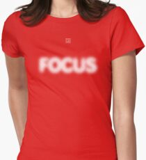 Focus Halftone Women's Fitted T-Shirt
