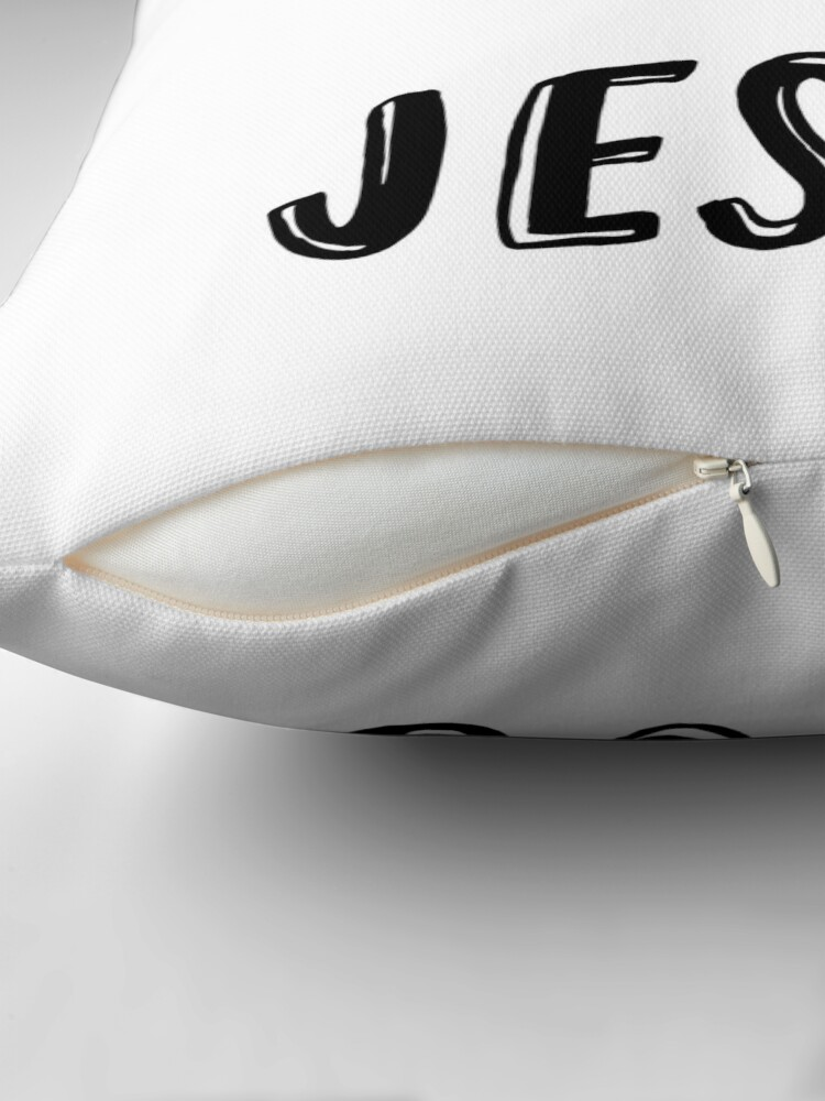Alternate view of Christian Quote: I'm here for Jesus Throw Pillow