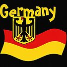 German Flag with Eagle and text Germany by edsimoneit