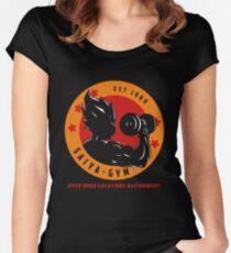 Camiseta entallada de cuello redondo Saiyan Gym dbz Camiseta fa855867a78a8