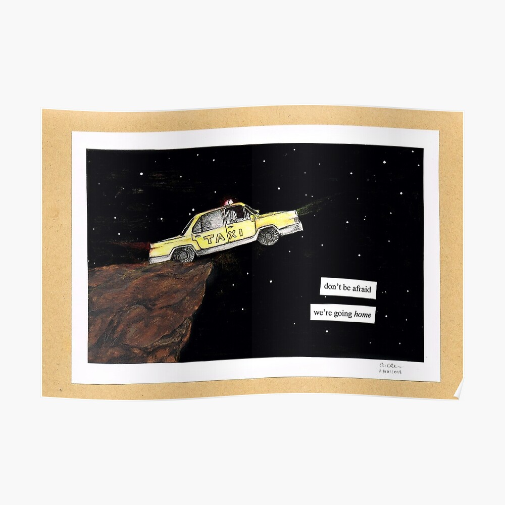Twenty One Pilots Taxi Cab Poster By Celii K Redbubble