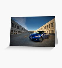 Hyundai Genesis Coupe Greeting Card