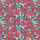 ROSES TEAL by Sharon Turner