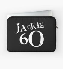 Jackie 60 Classic White Logo on Black Gear Laptop Sleeve