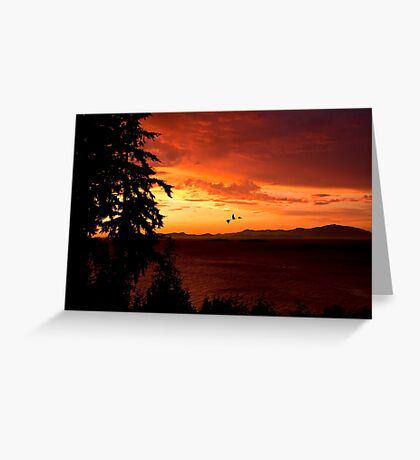 Sunset Over the Strait Greeting Card