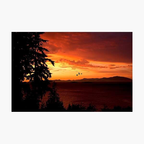 Sunset Over the Strait Photographic Print