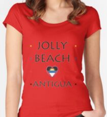 Jolly Beach Antigua | <3 Antigua Women's Fitted Scoop T-Shirt