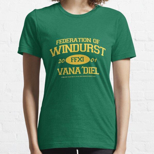 Final Fantasy XI: Windurst (Goldbeschriftung) Essential T-Shirt