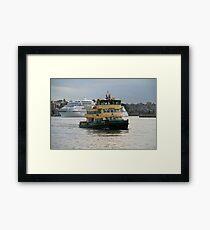 Fishburn approaching Circular Quay Framed Print