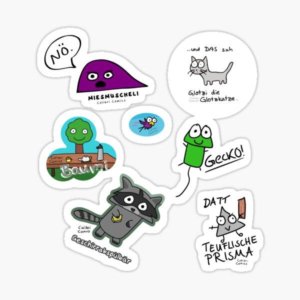 Süßes Colibri Comics Stickerset Sticker