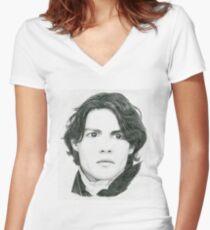 Ichabod Crane Women's Fitted V-Neck T-Shirt