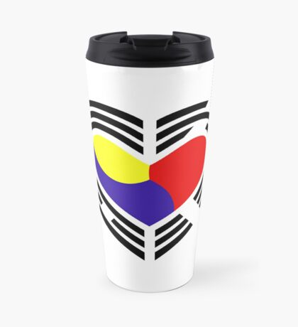Korean Patriot Flag Series (Heart) Travel Mug