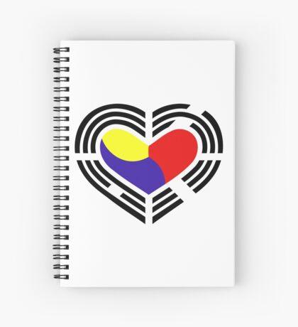 Korean Patriot Flag Series (Heart) Spiral Notebook