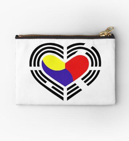 Korean Patriot Flag Series (Heart) Zipper Pouch