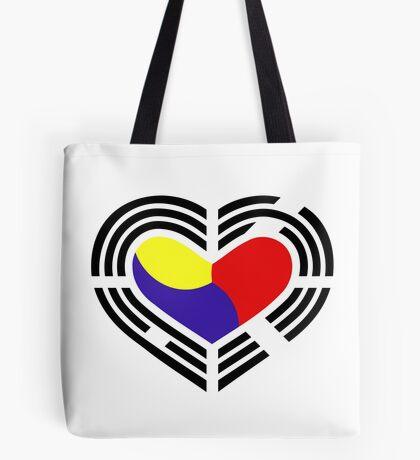 Korean Patriot Flag Series (Heart) Tote Bag